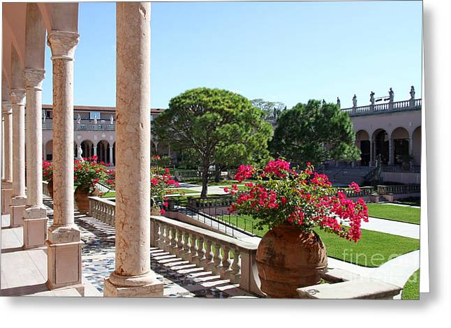 Museums Courtyard  Greeting Card