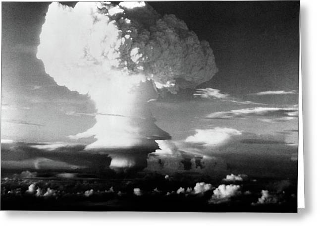 Mushroom Cloud From Atomic Bomb Set Greeting Card