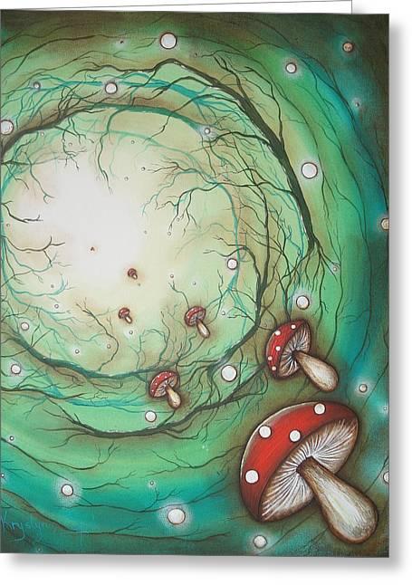 Mushroom Time Tunel Greeting Card
