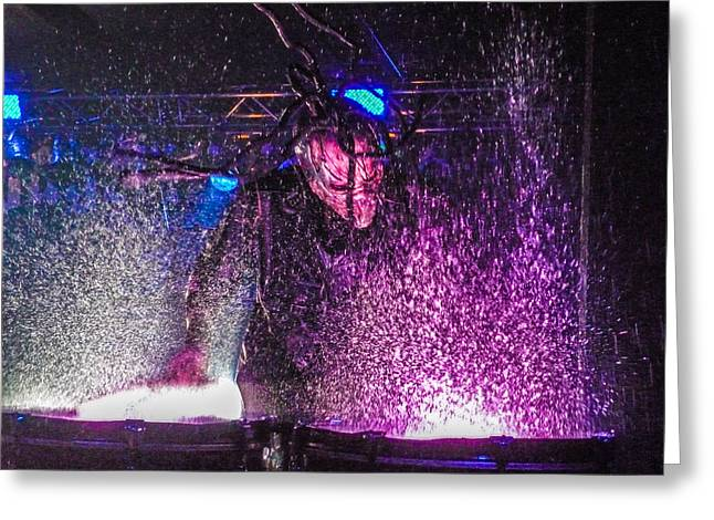 Mushroomhead He'd 2 Hed 2 At Backstage Live Greeting Card by Josh Scanlon