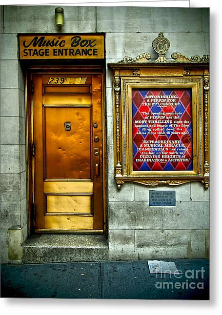 Music Box Stage Entrance Greeting Card