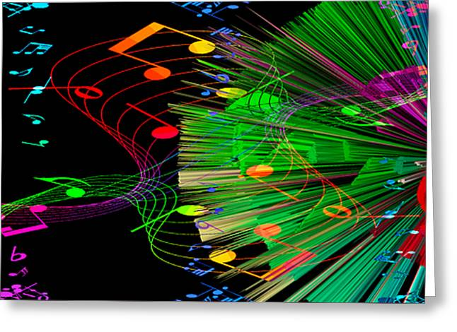 Music Colors The World 3 Greeting Card by Angelina Vick