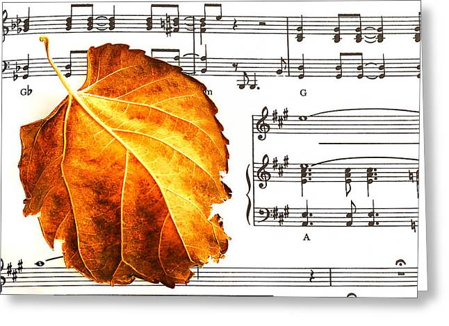 Music In Autumn Greeting Card