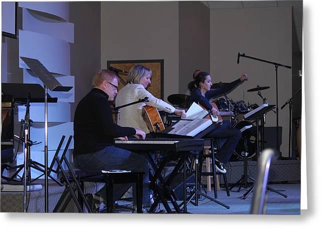 Music In Church Greeting Card by Carolyn Ricks