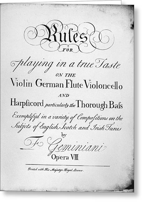 Music Instruction Greeting Card by Granger