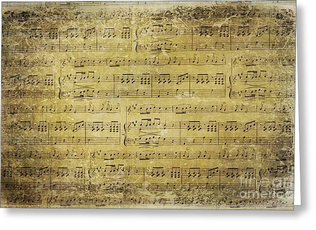 Music Is What Feelings Sound Like Greeting Card by Sylvia Cook