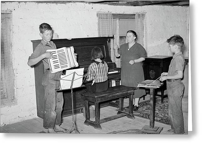 Music Lessons, 1940 Greeting Card