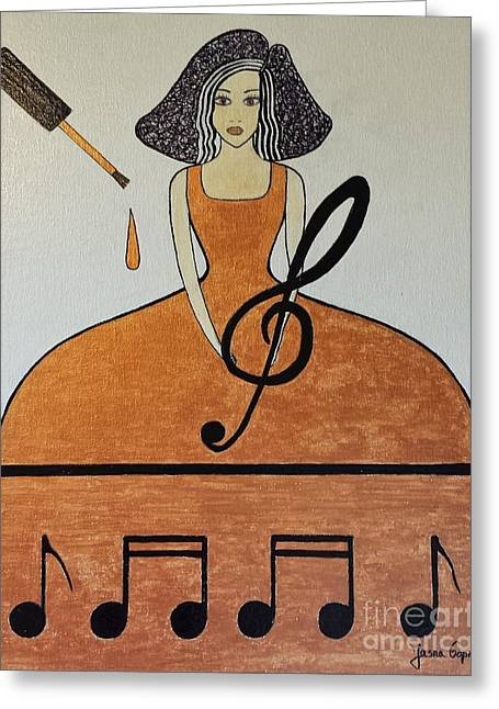 Music Lover Greeting Card by Jasna Gopic