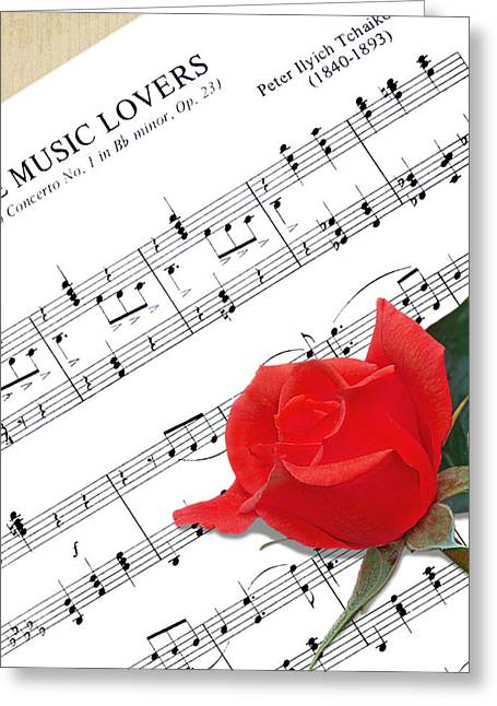 Music Lovers Greeting Card by Gill Billington
