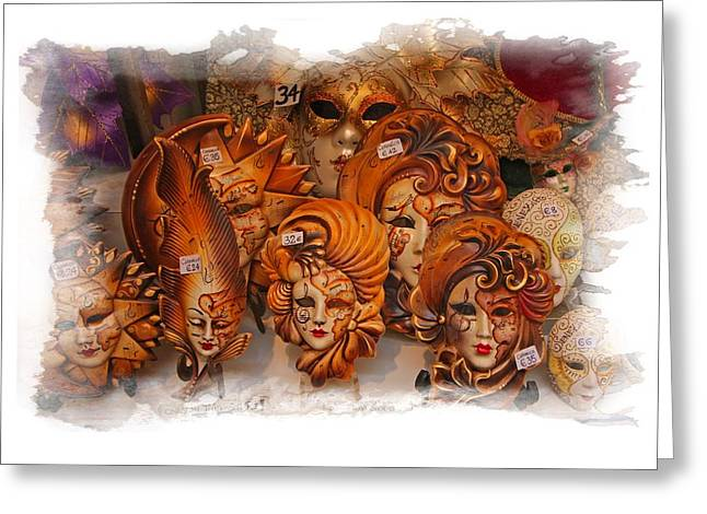 Music Masks Greeting Card
