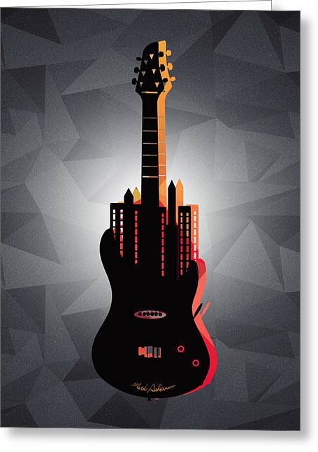 music NYC  Greeting Card by Mark Ashkenazi