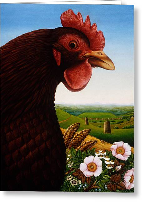 Music Of A Lost Kingdom Big Chicken Greeting Card by Frances Broomfield