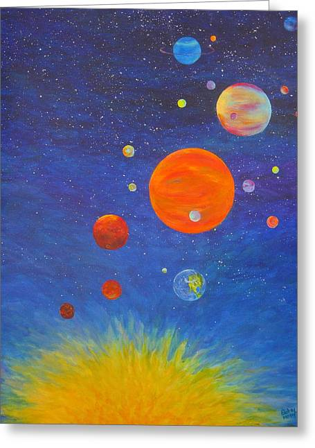 Music Of The Spheres 2 Greeting Card by Betsy Moran
