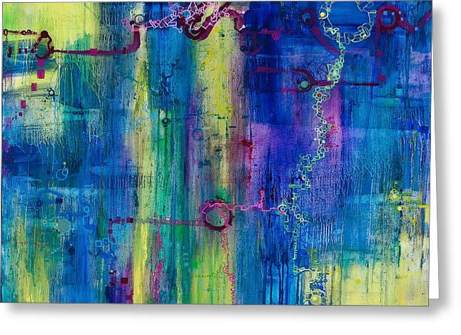 Music Of The Spheres Greeting Card by Regina Valluzzi