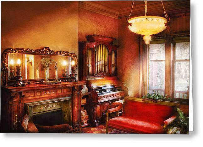 Music - Organist - Play Some Music For Me Greeting Card by Mike Savad