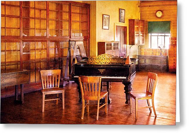 Music - Piano - Ready For Piano Lessons Greeting Card by Mike Savad