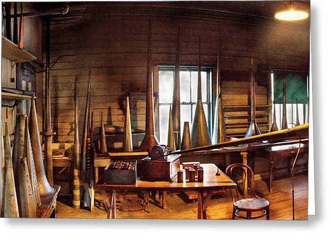 Music - Record - Where The Victrola Was Born Panorama Greeting Card by Mike Savad