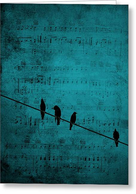 Music Soothes The Soul Greeting Card by Andrea Kollo