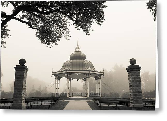 Music Stand In Fog Greeting Card by Scott Rackers