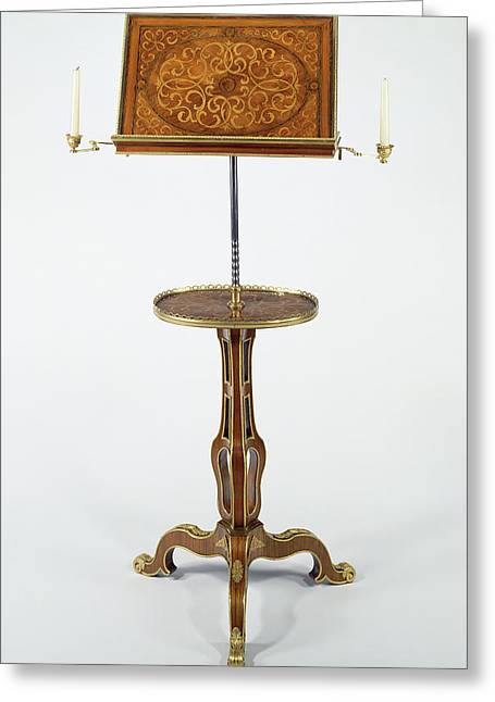 Music Stand Pupitre Attributed To Martin Carlin, French Greeting Card by Litz Collection