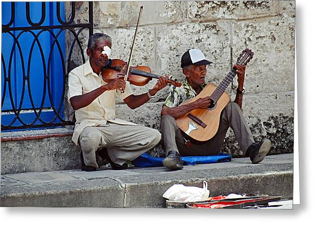 Music-street Musicians Greeting Card