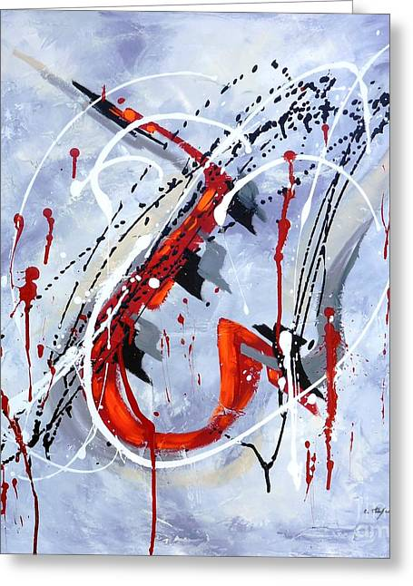 Musical Abstract 005 Greeting Card