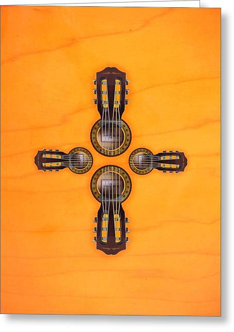 Musical Cross Greeting Card by Doron Mafdoos