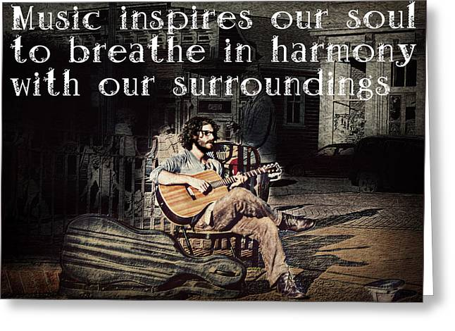 Musical Inspiration Greeting Card by Melanie Lankford Photography
