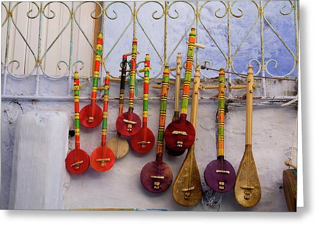 Musical Instrument, Souvenir Shops Greeting Card by Emily Wilson