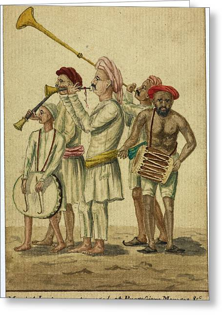 Musical Instruments Used At Processions Greeting Card