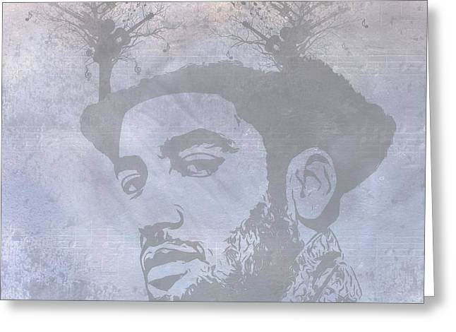 Musical Mind Of Ben Harper Greeting Card by Dan Sproul