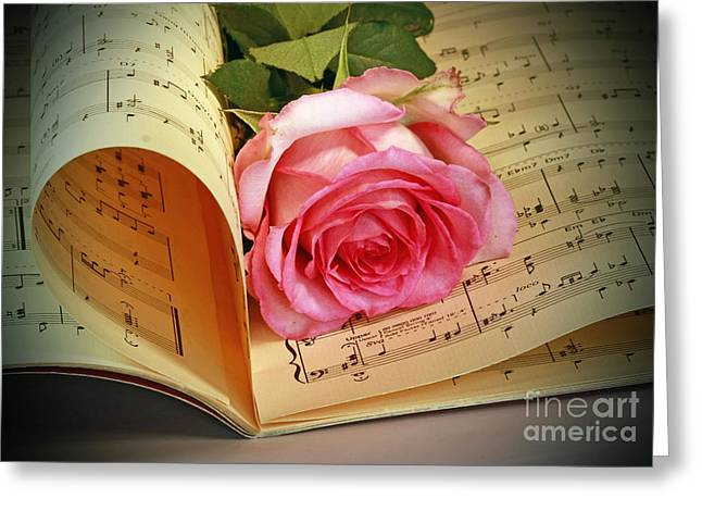 Musical Rose Greeting Card by Inspired Nature Photography Fine Art Photography