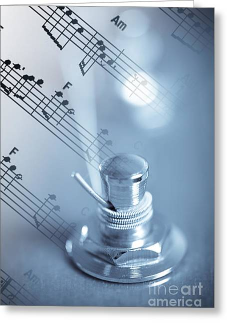 Musical Tune Greeting Card by Charles Dobbs