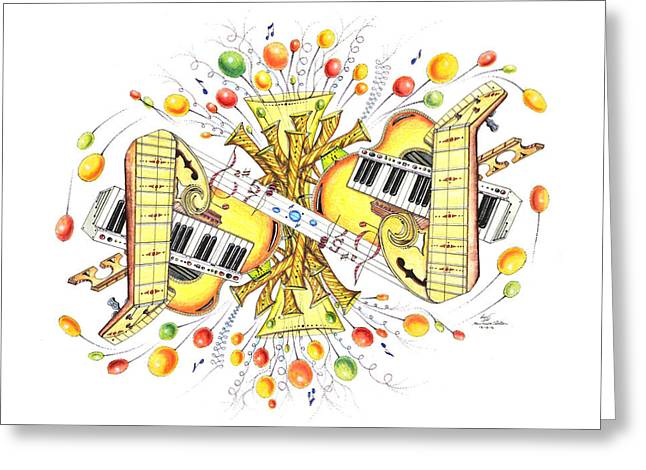 Musicality 2 Greeting Card