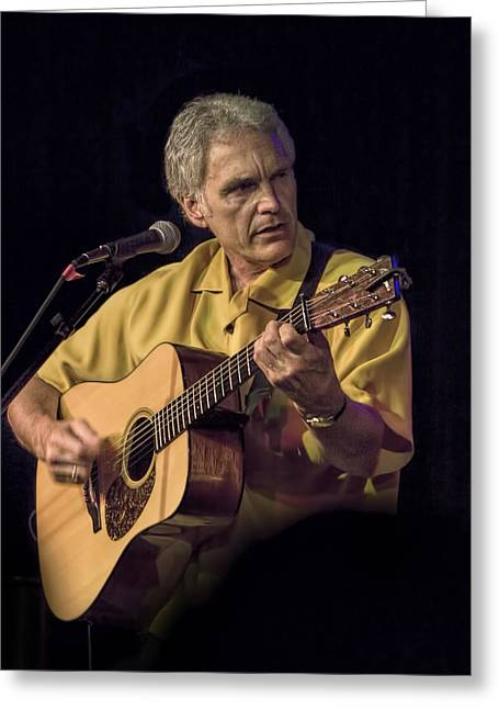 Musician And Songwriter Verlon Thompson Greeting Card by Randall Nyhof