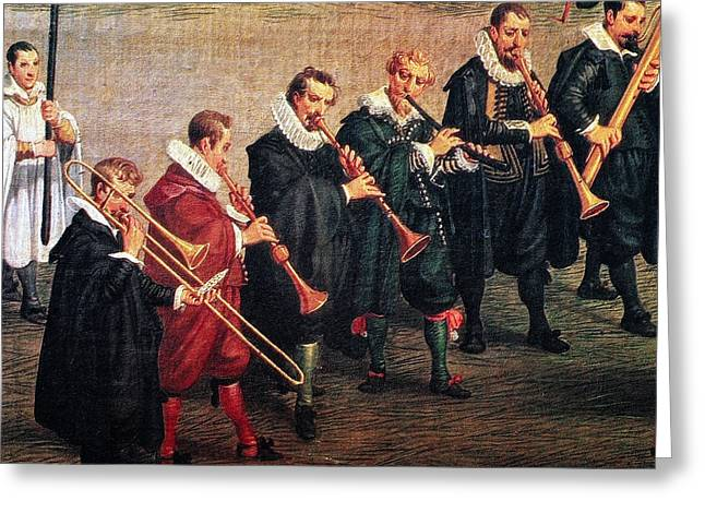 Musicians, C1600 Greeting Card