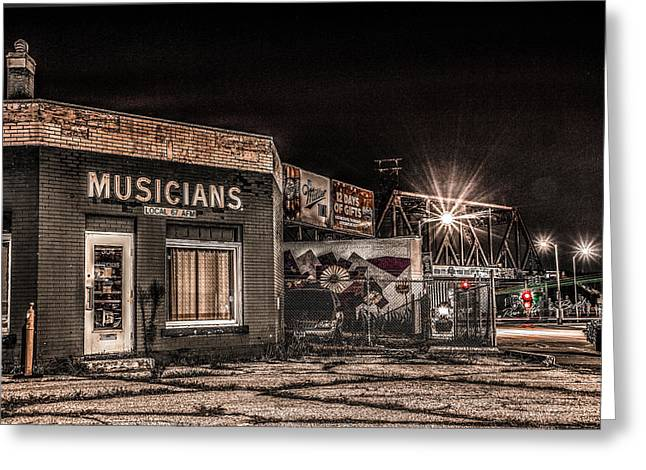 Musicians Union Greeting Card by Ray Congrove