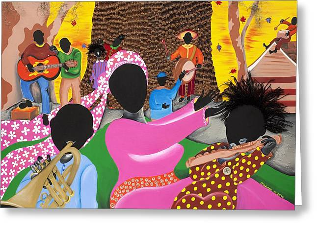 Music's Teachers Greeting Card by Patricia Sabree