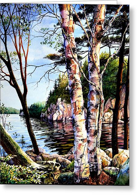 Muskoka Reflections Greeting Card by Hanne Lore Koehler