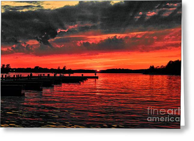 Muskoka Sunset Greeting Card