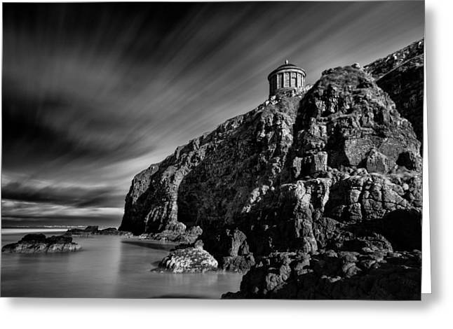 Mussenden Temple And Sea Stack Greeting Card