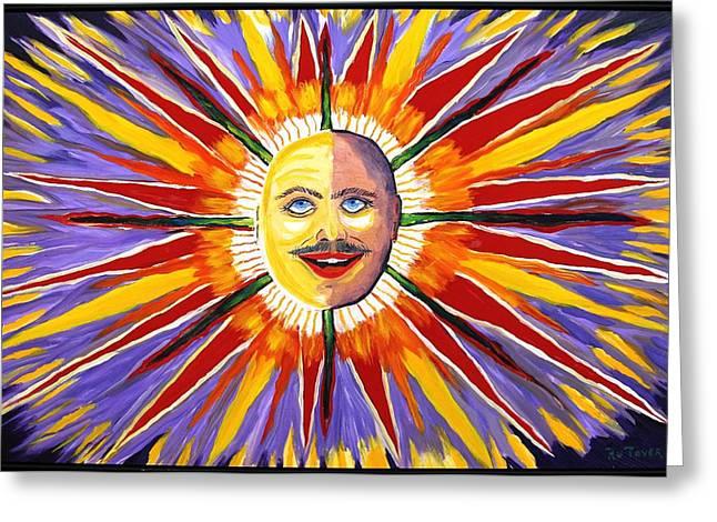 Mustache Sun Greeting Card