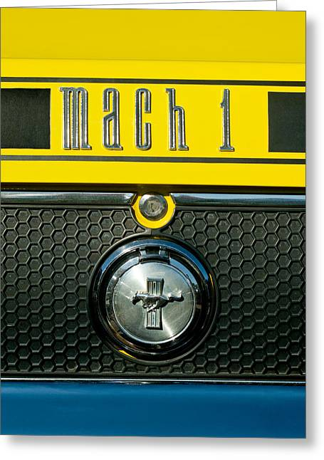 Mustang Mach 1 Emblem 2 Greeting Card by Jill Reger