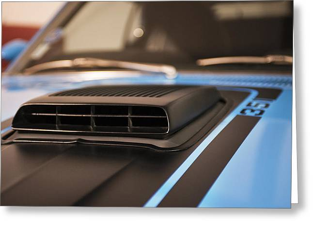 Mustang Mach 1 Shaker Hood Scoop Greeting Card