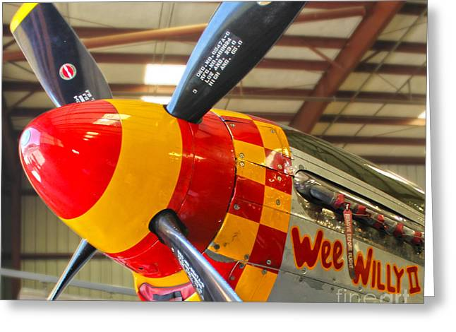 Mustang P-51d Wee Willie Greeting Card by Gregory Dyer