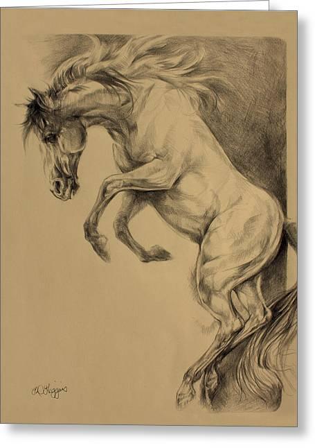 Mustang Rearing Greeting Card