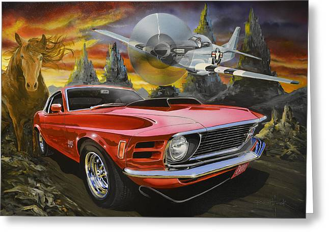 Mustangs 3 Greeting Card