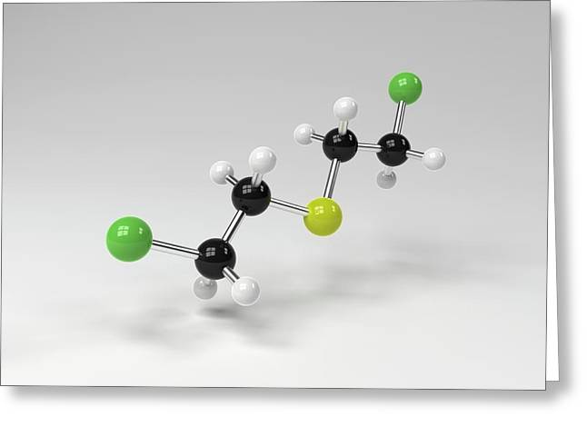 Mustard Gas Molecule Greeting Card by Indigo Molecular Images