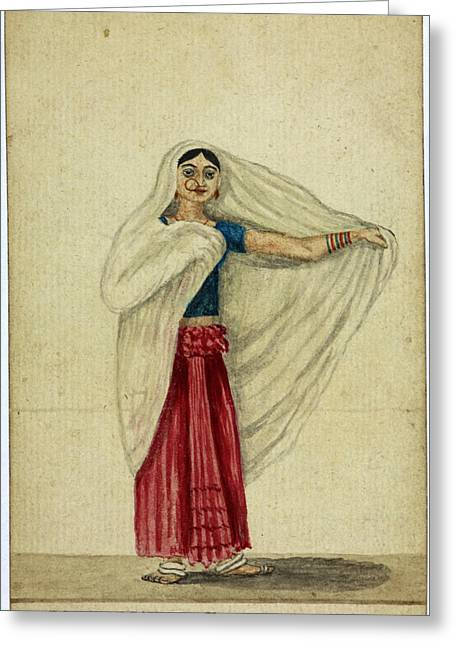 Musulmanee Dancing-girl Greeting Card by British Library