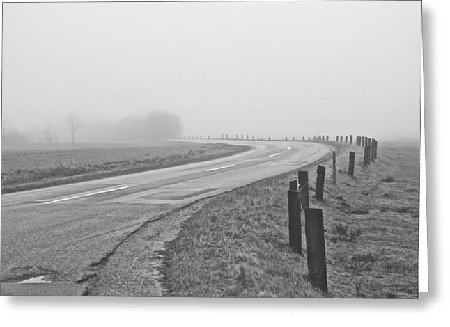 Mute Landscape Greeting Card by Odd Jeppesen